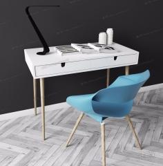 实木书桌3D4