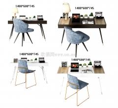 实木书桌3D6