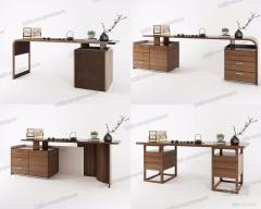 实木书桌3D10