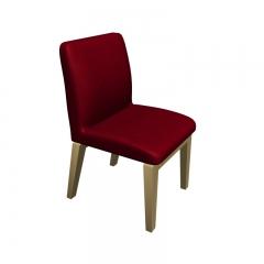 现代简约红色绒布餐椅