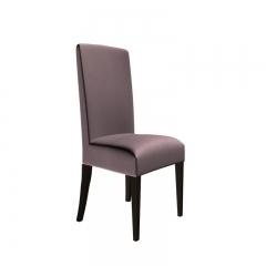 现代简约粉色绒布餐椅