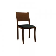 北欧实木皮革餐椅