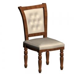 欧式皮革实木餐椅
