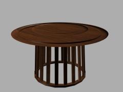 简约现代圆形餐桌实木圆餐台