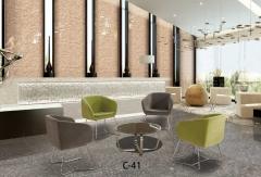 布艺大厅 休闲铁艺沙发 单人位北欧风