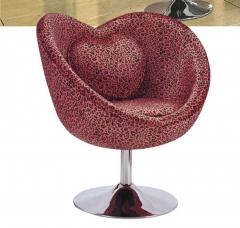 布艺办公沙发 单人位 电镀脚底座 带靠枕