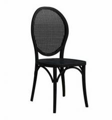 黑色实木餐椅