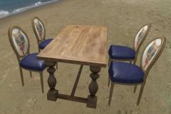美式复古餐桌椅套餐特价