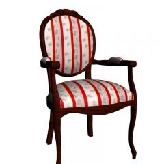 欧式布纹实木餐椅