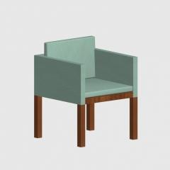 中式皮革实木餐椅