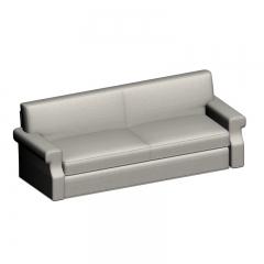 现代简约白色布艺沙发