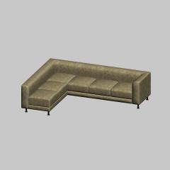 现代简约布纹多人位沙发