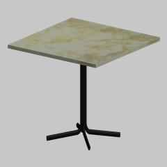 现代简约大理石铁艺小方桌