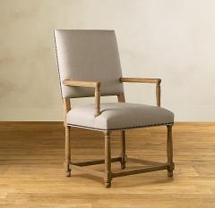 美式实木餐椅扶手靠背书房椅