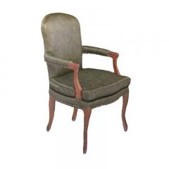 美式单人实木扶手餐椅
