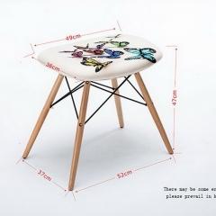 现代简约实木布艺脚凳